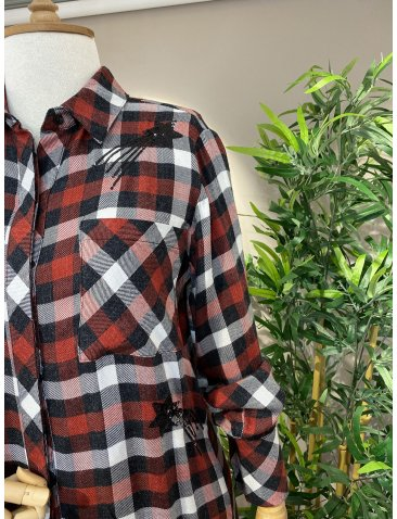 Payetli Oduncu Gömlek